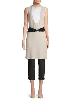 Brunello Cucinelli Belted Silk-Blend Tunic