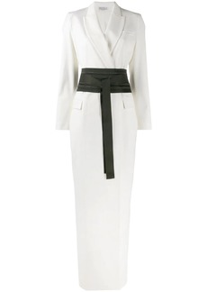 Brunello Cucinelli belted suit jacket dress