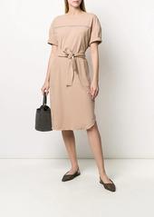 Brunello Cucinelli belted T-shirt dress