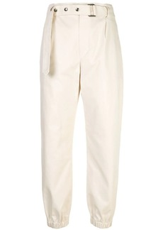 Brunello Cucinelli belted tapered trousers