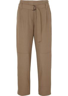 Brunello Cucinelli Belted Wool-blend Gabardine Pants