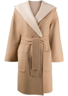 Brunello Cucinelli belted wrap coat