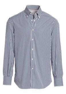 Brunello Cucinelli Bengal Stripe Sport Shirt