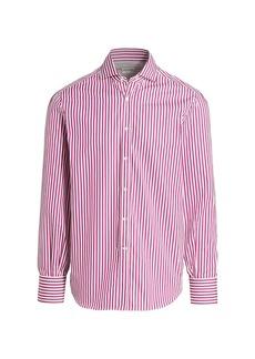 Brunello Cucinelli Bengal Striped Sport Shirt