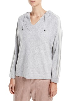 Brunello Cucinelli 2-Ply Cashmere Hooded Pullover