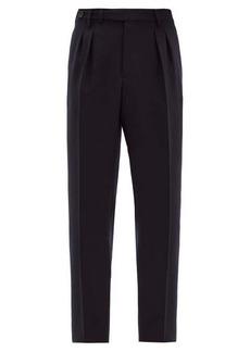 Brunello Cucinelli Adjustable-waist tailored wool-twill trousers