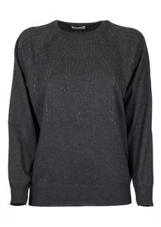 Brunello Cucinelli Anthracite Round Neck Sweater