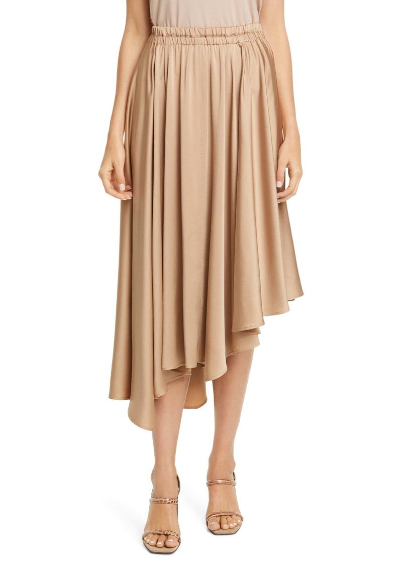 Brunello Cucinelli Asymmetrical Satin Skirt