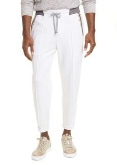 Brunello Cucinelli Athletic Stripe Jogger Pants