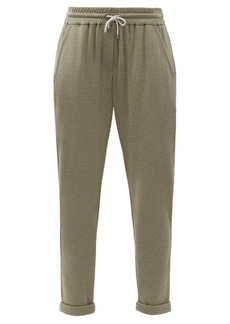 Brunello Cucinelli Ball-chain trim cotton-blend track pants