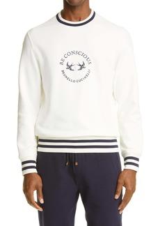 Brunello Cucinelli Be Conscious Logo Cotton Sweatshirt