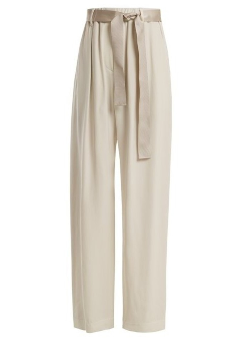 Brunello Cucinelli Bead-embellished wide-leg trousers