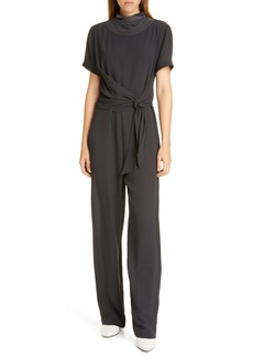 Brunello Cucinelli Bead Neck Silk Jumpsuit