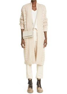 Brunello Cucinelli Beaded Stripe Cashmere Sweater