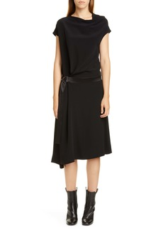 Brunello Cucinelli Belted Asymmetrical Dress