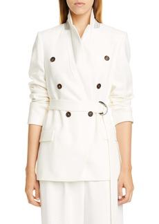 Brunello Cucinelli Belted Wool & Cashmere Blazer