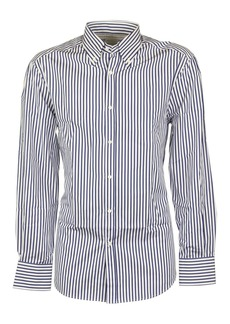 Brunello Cucinelli Blue Striped Shirt
