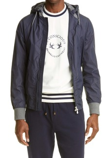 Brunello Cucinelli Bomber Jacket with Removable Hood