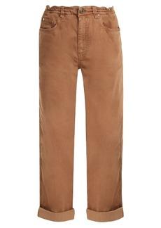 Brunello Cucinelli Boyfriend-fit cotton-blend jeans