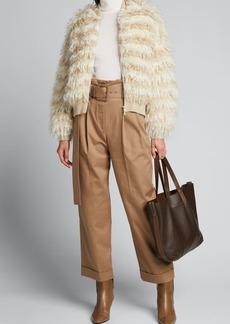 Brunello Cucinelli Buckled Cotton Twill Pants