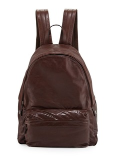 Brunello Cucinelli Buffalo Leather Backpack  Copper