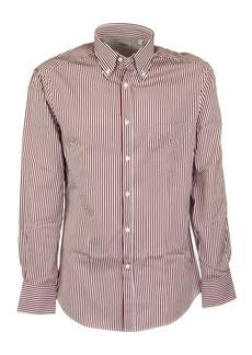 Brunello Cucinelli Burgundy Striped Shirt