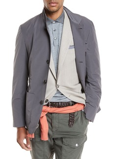 Brunello Cucinelli Button-Front Nylon Jacket
