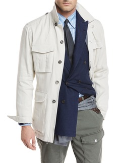 Brunello Cucinelli Button-Front Safari Jacket