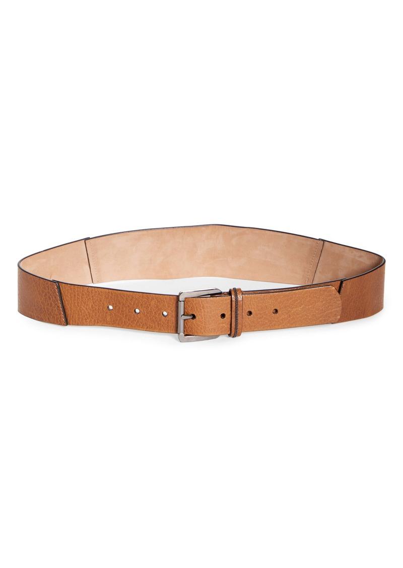 Brunello Cucinelli Calfskin Leather Belt