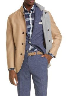Brunello Cucinelli Cashmere & Silk Reversible Jacket