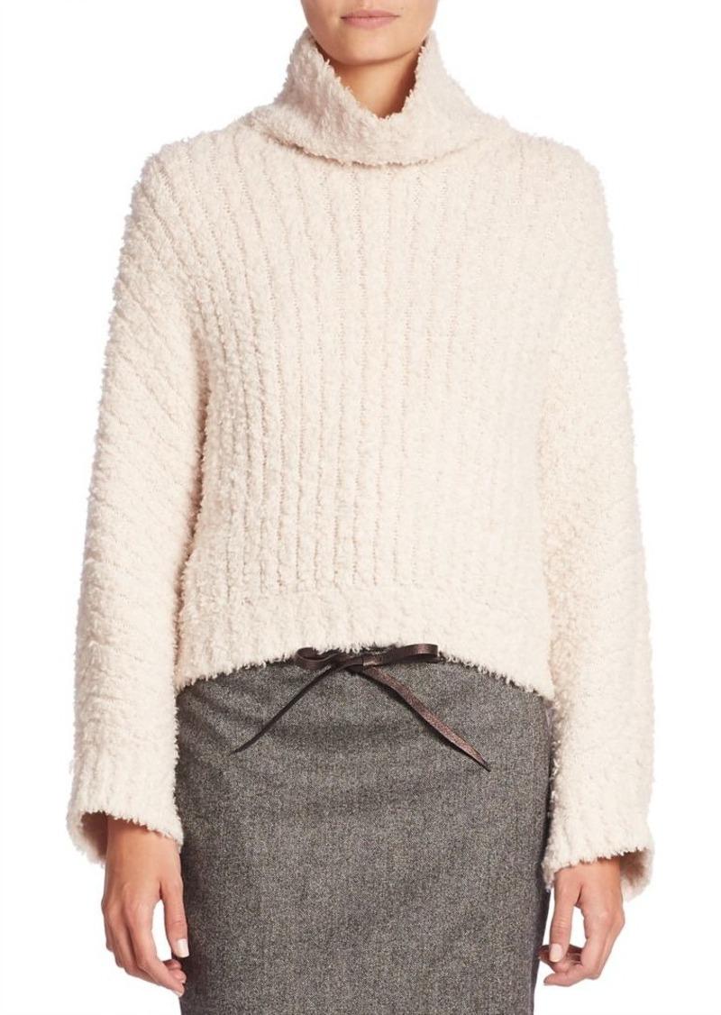 Brunello Cucinelli Cashmere-Blend Bouclé Turtleneck Sweater