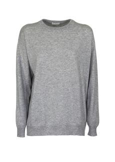 Brunello Cucinelli Cashmere Crew Neck Sweater Grey