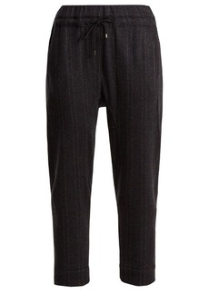 Brunello Cucinelli Cashmere pinstriped jogging trousers