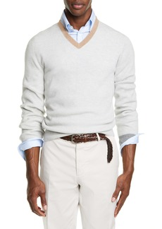 Brunello Cucinelli Cashmere V-Neck Sweater