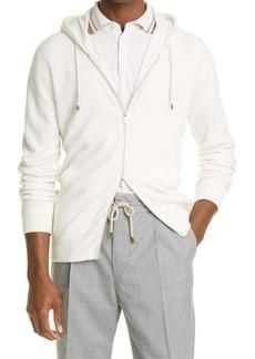 Brunello Cucinelli Cashmere Zip Front Hoodie
