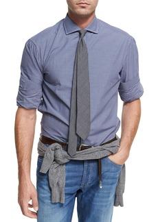 Brunello Cucinelli Check Twill Cotton Shirt