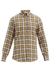 Brunello Cucinelli Checked button-down collar cotton shirt