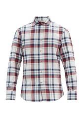 Brunello Cucinelli Checked cotton-poplin shirt