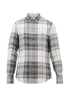 Brunello Cucinelli Checked slubbed-linen shirt