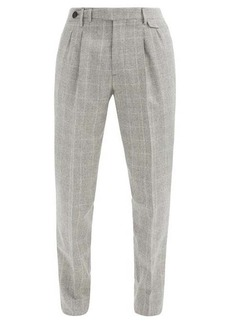 Brunello Cucinelli Checked wool trousers