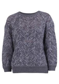 Brunello Cucinelli Chevron Motif Sweater