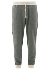 Brunello Cucinelli Contrast-cuff cotton-blend track pants