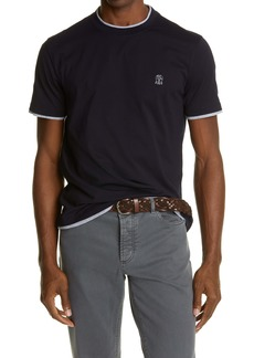 Brunello Cucinelli Contrast Trim Crewneck T-Shirt