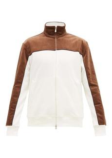 Brunello Cucinelli Corduroy-panel cotton-blend jersey track top