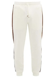 Brunello Cucinelli Corduroy side-striped cotton-jersey track pants