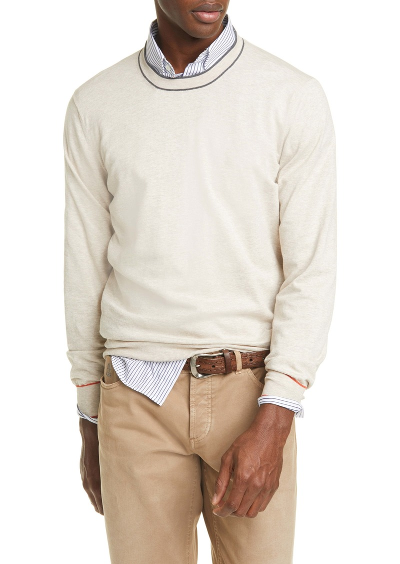 Brunello Cucinelli Cotton Crewneck Sweater
