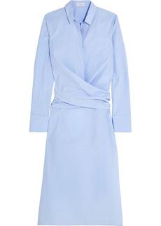 Brunello Cucinelli Cotton Oxford wrap shirt