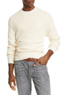 Brunello Cucinelli Cotton Raglan Crewneck Sweater