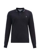 Brunello Cucinelli Crest-embroidered cotton-jersey polo shirt