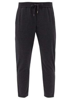 Brunello Cucinelli Cropped cotton-blend track pants